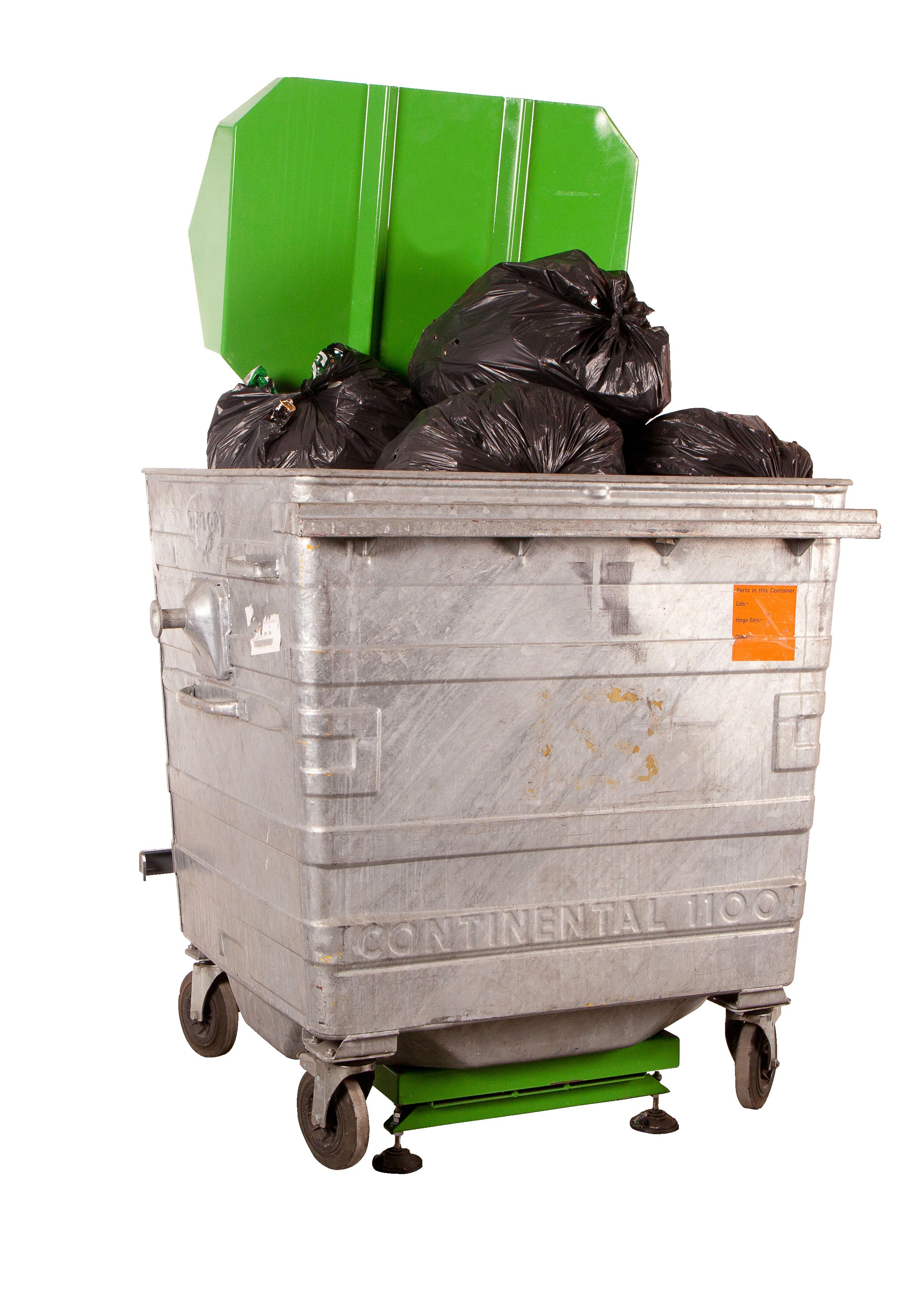 Prensa para contenedores de basura