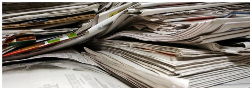 Enfardadora de residuos de papel
