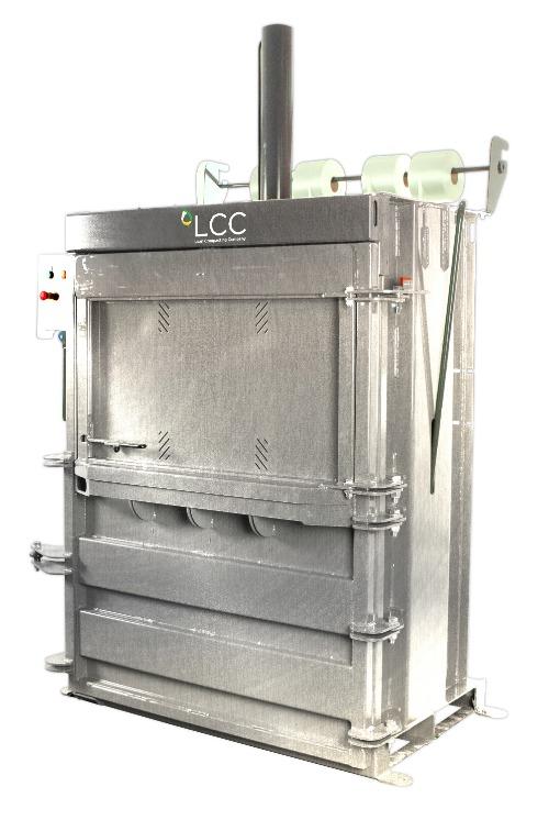 Prensa compactadora de residuos V16 en acero inoxidable