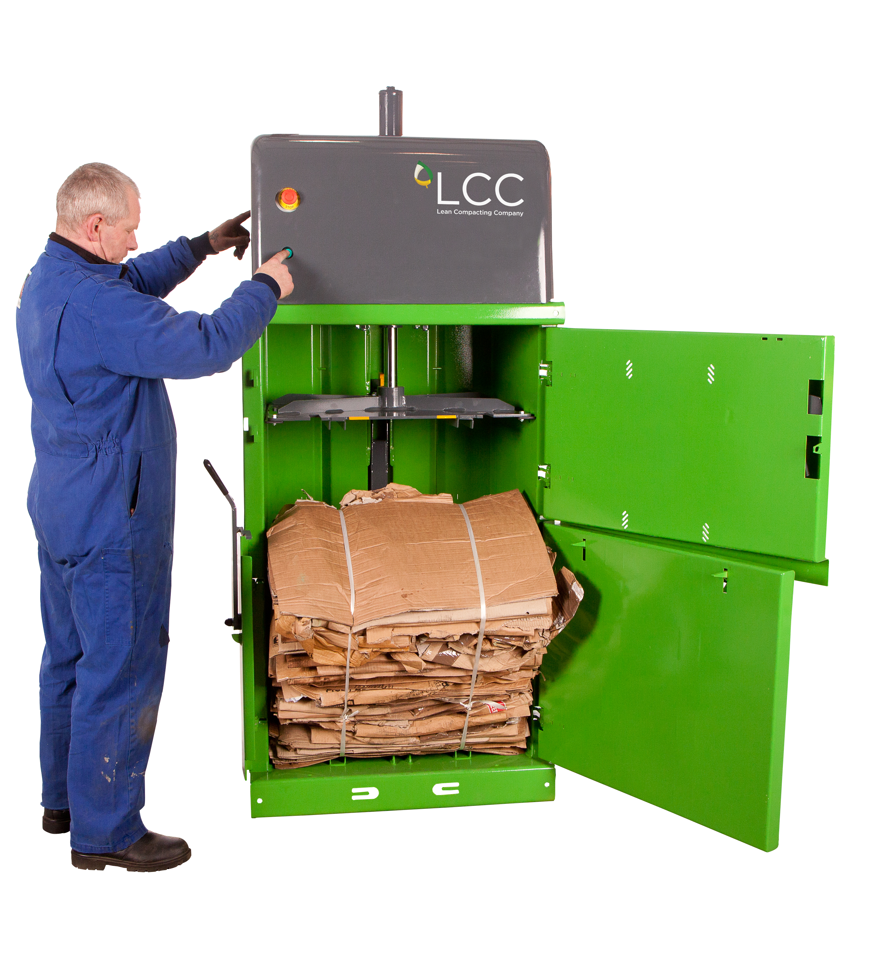 Prensa compactadora de residuos V5