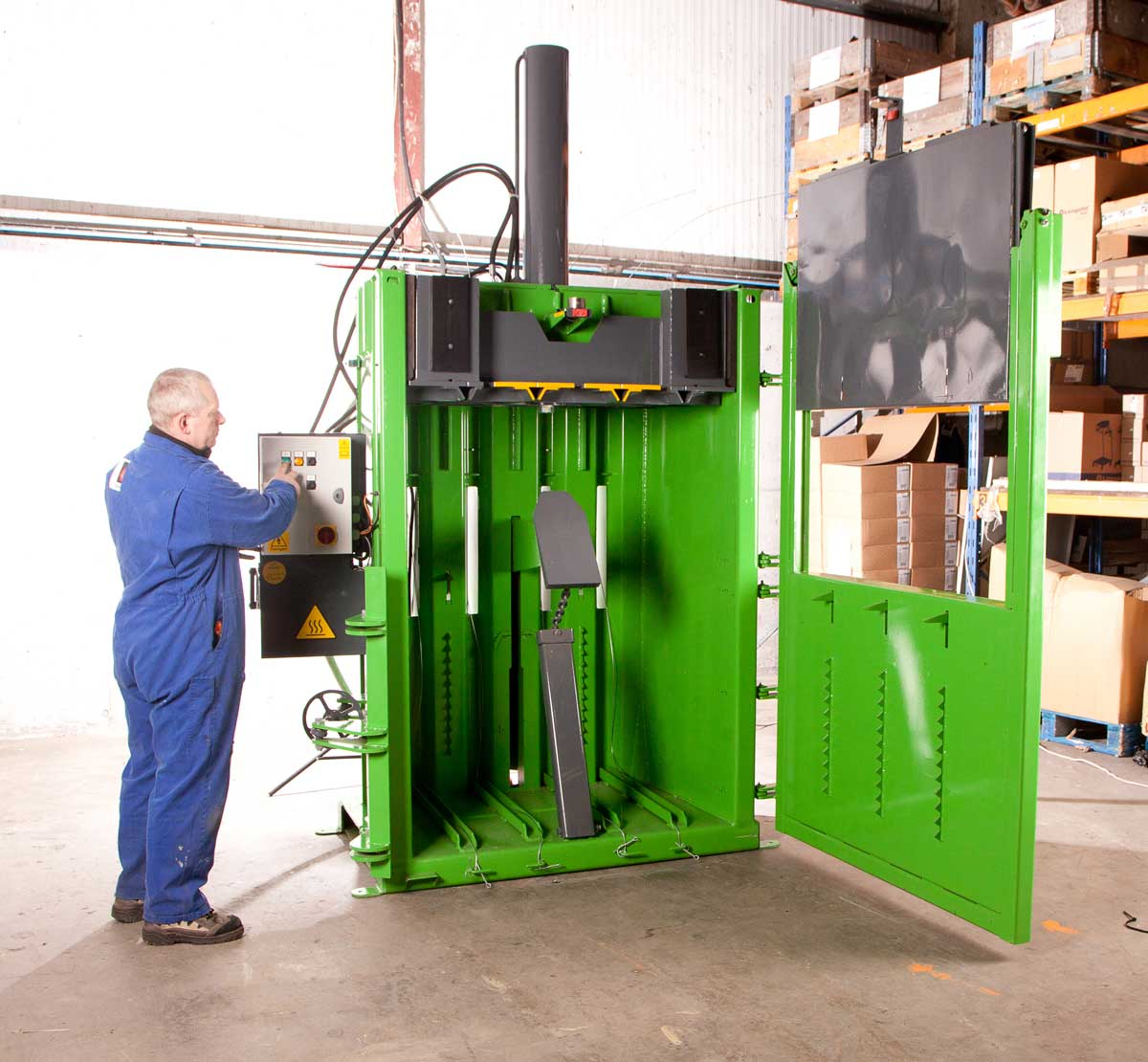 Prensa compactadora de residuos V50