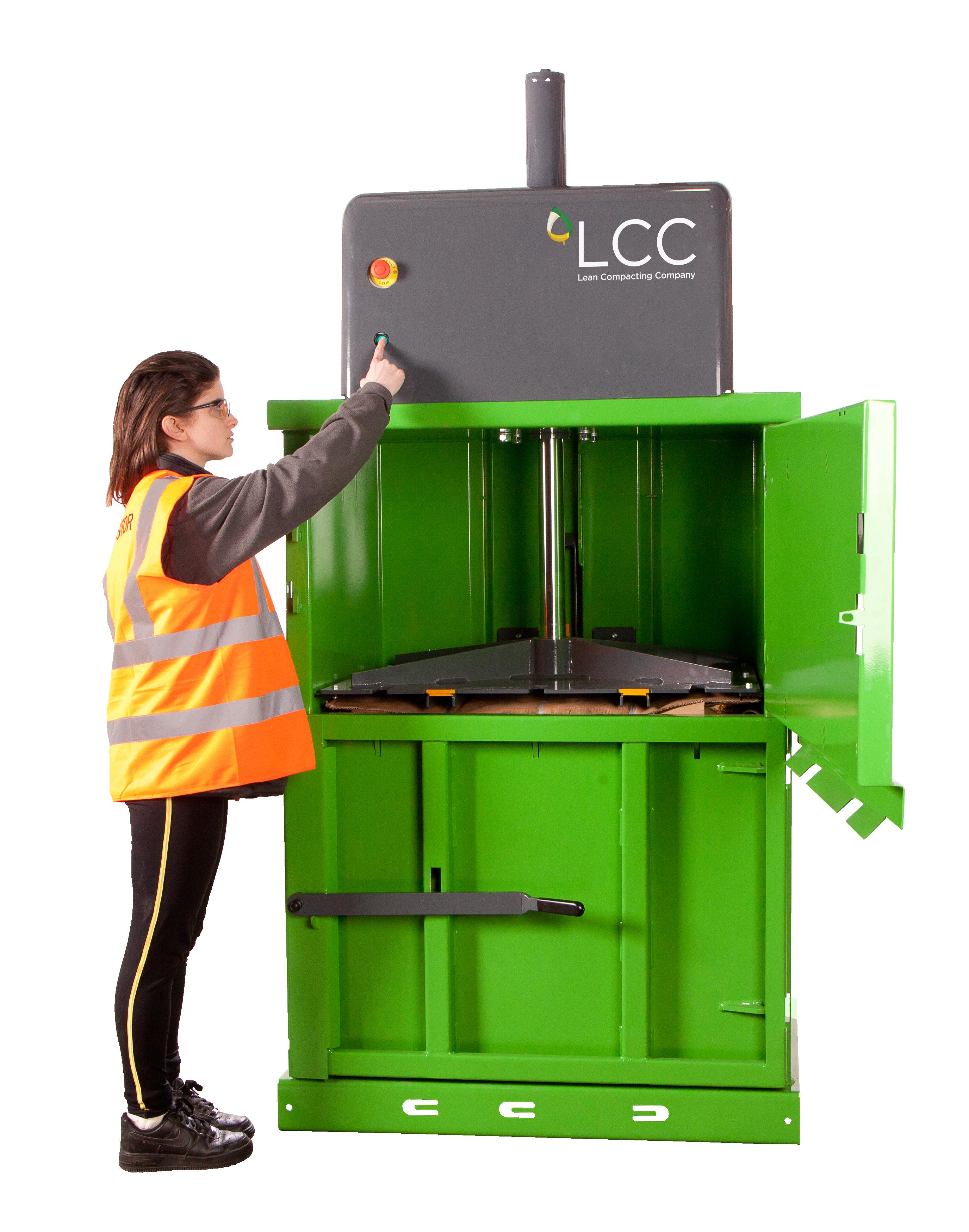 Prensa compactadora de residuos V8