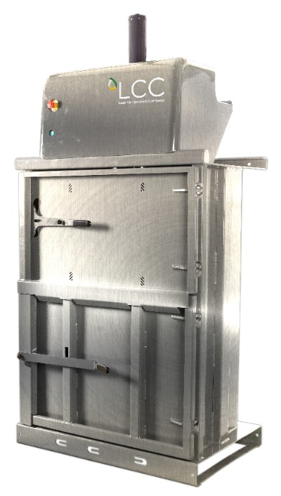 Prensa compactadora de residuos V8 en acero inoxidable